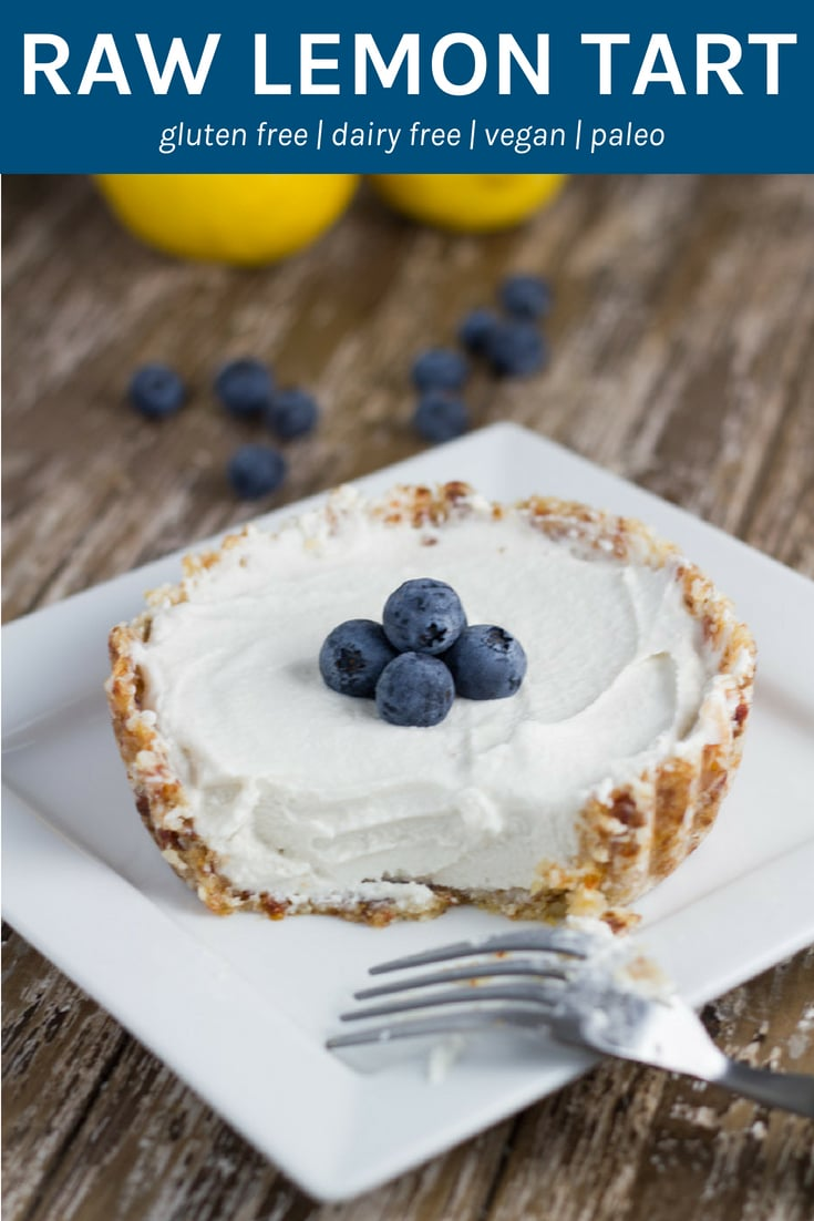 Raw Lemon Tart. The perfect dessert to serve to guests and they are gluten, dairy and refined sugar free.