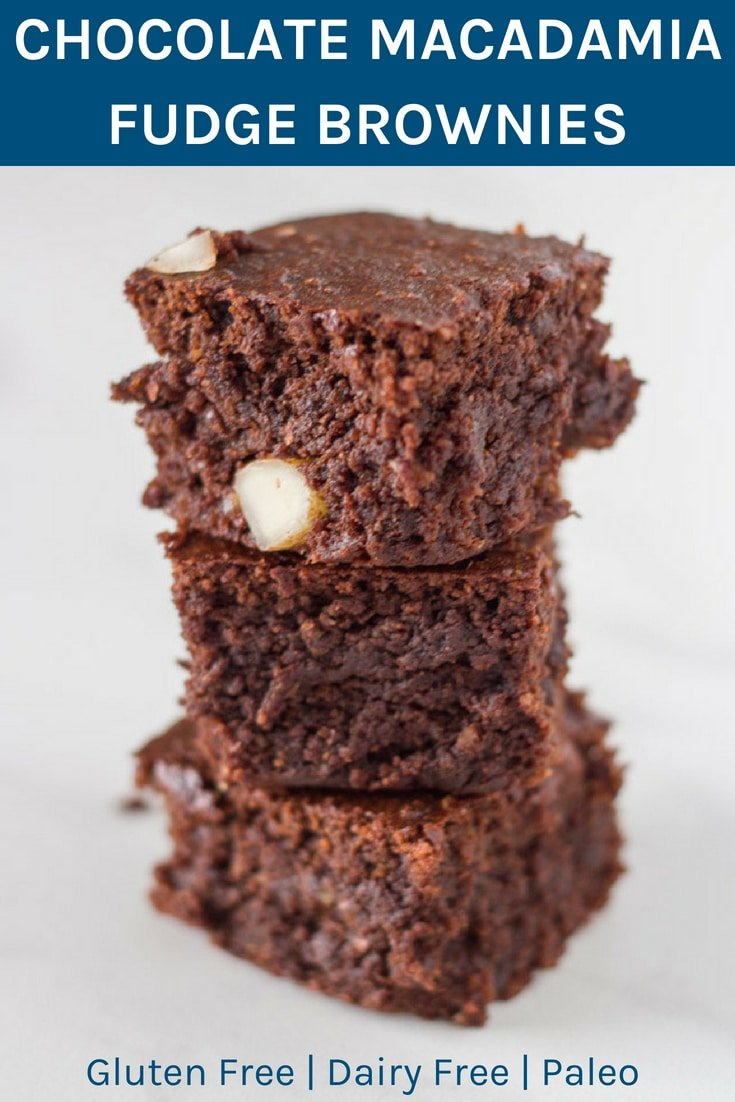 Chocolate Macadamia Fudge Brownies. These brownies are absolutely yummy and basically melt in your mouth. SO TASTY!