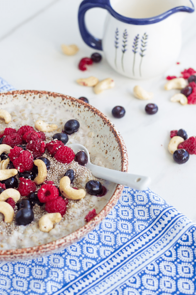 This berry buckwheat porridge has become a regular addition to my breakfast menu. It is the perfect winter breakfast and I have included both the stove top and thermomix methods.